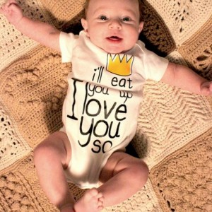 I'll Eat You Up I Love You So Baby One Piece Bodysuit-Where the Wild Things Are