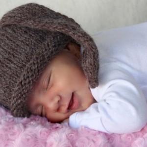 Floppy eared Bunny hat newborn photo prop ears hat baby hat size Newborn, 6 - 12 months