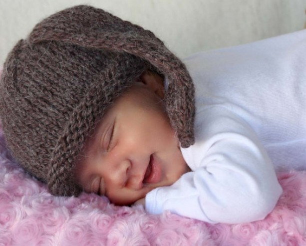 Floppy eared Bunny hat newborn photo prop ears hat baby hat size Newborn, 6 - 12 months