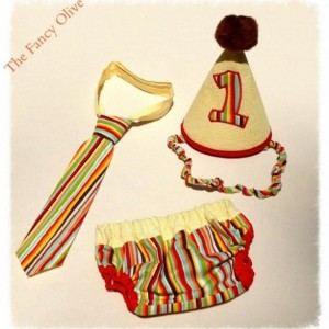 Striped Boy's Cake Smash Outfit
