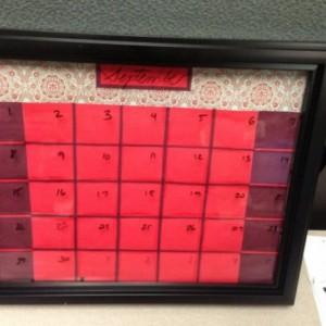 Moroccan Dry Erase Calendar