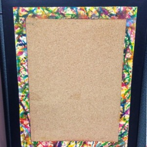 Splatter Paint Corkboard