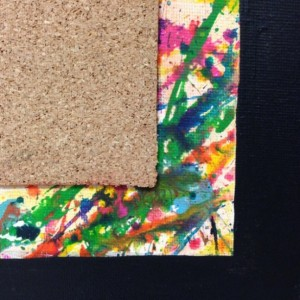 Splatter Paint Corkboard
