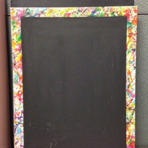Splatter Paint Magnet Board