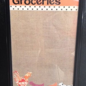 Chicken Grocery Dry Erase Board