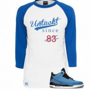 Untuckt - 83 Raglan To Match Air Jordan 3 Powder Blue