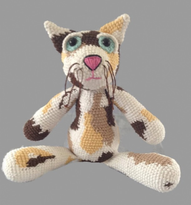 Fat Cat Crochet Plush Doll Scent Infused Aromatherapy Aftcra
