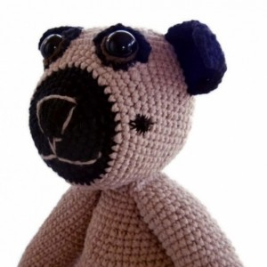 Rosco the Pug Dog - Crochet Plush Doll - Scent Infused - Aromatherapy