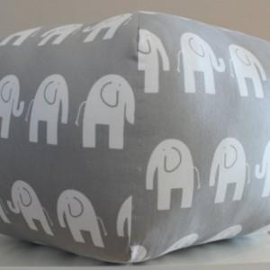 Ottoman Pouf Floor Pillow Grey Elephant