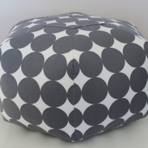 Ottoman Pouf Floor Pillow Dotscape Charcoal