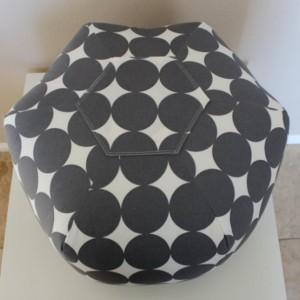 Ottoman Pouf Floor Pillow Dotscape Charcoal