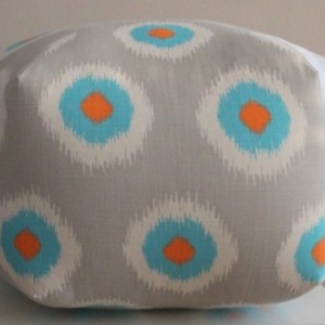 Pouf Ottoman Floor Pillow Ikat Domino Mandarin