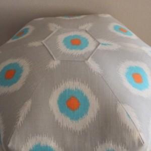 Pouf Ottoman Floor Pillow Ikat Domino Mandarin