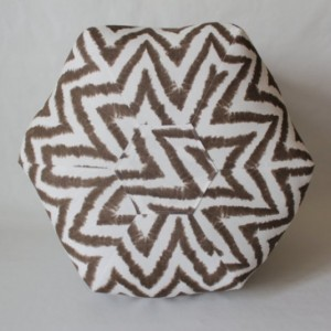Ottoman Pouf Floor Pillow Brown Diva