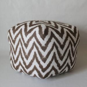 Ottoman Pouf Floor Pillow Brown Diva