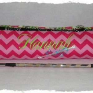 Custom Made to Order Boutique Baton Bag Twirler with Embroidery School Spirit