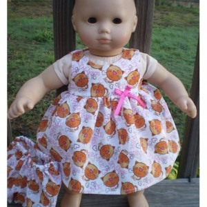 Bitty Baby Dress,Bitty Baby Underwear, Kitty Cat Doll Dress, American Girl Doll Dress, Bitty Baby Doll Clothes, Handmade Doll Clothes