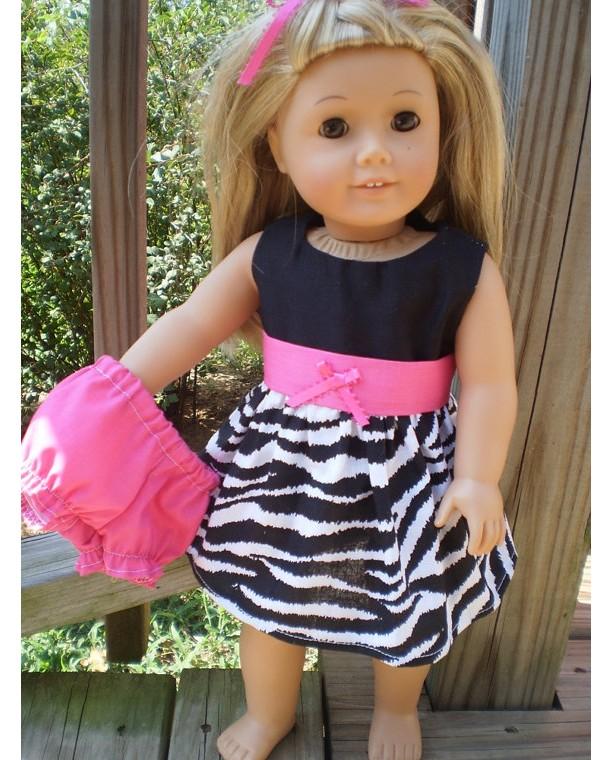 American Girl Doll Dress, American Girl Doll Underwear, Zebra Pin ...