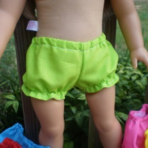 American Girl Doll Underwear, Bitty Baby doll underwear, 5 pairs of underwear, handmade doll clothes, American Girl Doll Clothes, panties