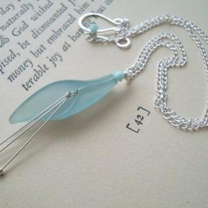 Aqua Calla Lily Necklace