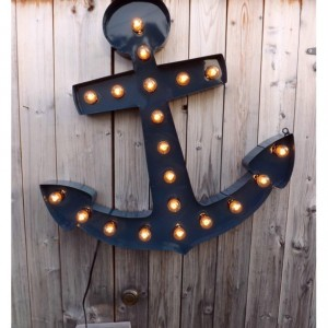 Marquee light anchor sign LARGE