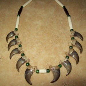 10 count real rear black bear claw necklace native american made