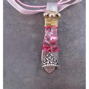 Pink Princess Spoon Necklace