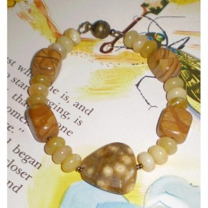 Jasper and Yellow Opal Bracelet