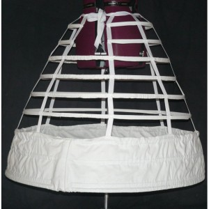 Reproduction Civil War Cage Crinoline Hoop Skirt Gown 1855 1856 1857
