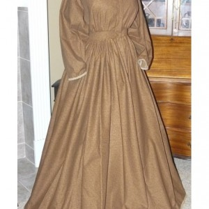 Civil War Reenactment Victorian Day Gown Prairie Nurse Dress Set Ladies CUSTOM Size 2-24