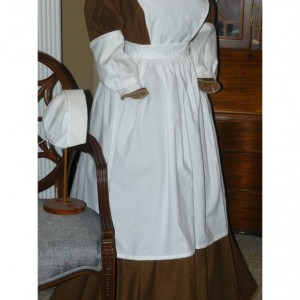 Civil War Reenactment Victorian Prairie Nurse Colonial Pinner Apron Clara Barton