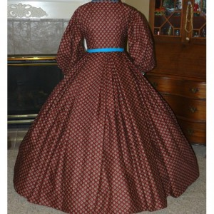 Civil War Reenactment Victorian Day Gown Prairie Nurse Dress Set Ladies CUSTOM Clara Barton