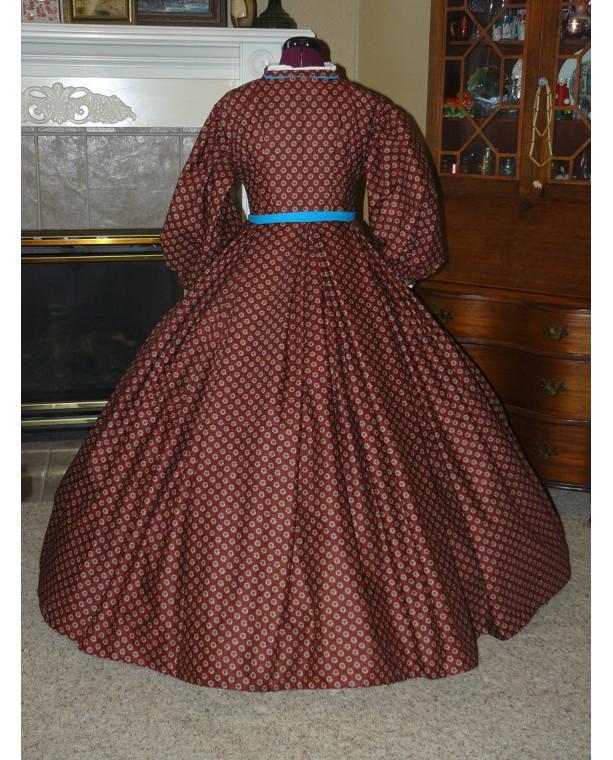 Civil War Reenactment Victorian Day Gown Prairie Nurse Dress Set Ladies CUSTOM Clara Barton