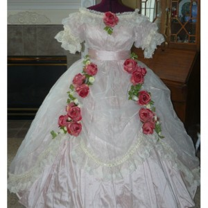 Silk Civil War Reenactment Victorian Dinner Ball Gown Southern Belle Dress Set Ladies CUSTOM Satin available