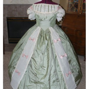 Satin Civil War Reenactment Victorian Dinner Ball Gown Southern Belle Dress Set Ladies CUSTOM Silk available