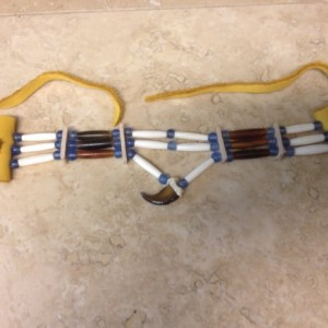 Real Bear claw choker native american made