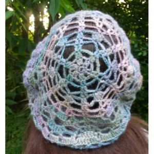 Women's Summer Crocheted Hat from Hand Spun Yarn
