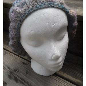 Women's Summer Crocheted Hat from Hand Spun Yarn