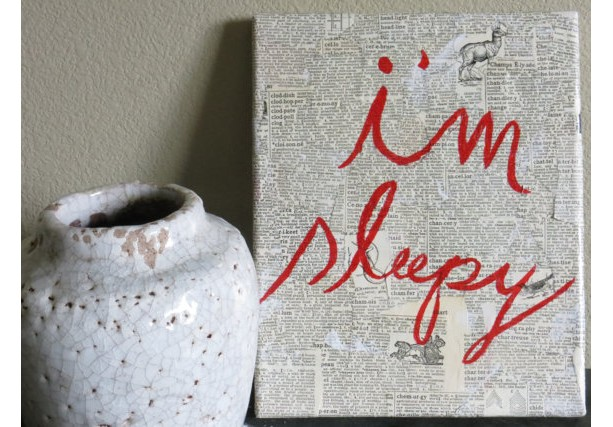 I'm Sleep: Textured Wall Art