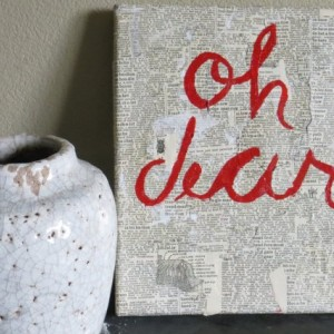 Oh Dear: Textured Wall Art