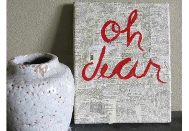 Oh Dear: Textured Wall Art