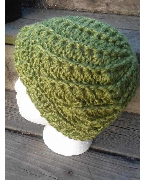 ... Women s Green Spiral Crocheted Beanie ... ebc29e3f3f5
