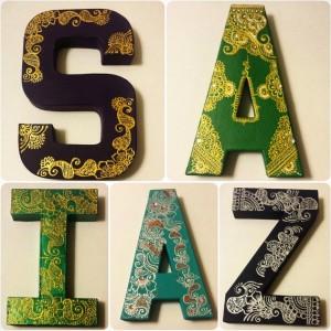 Personalized Henna Art Alphabet