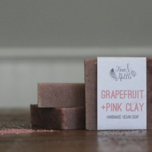 Grapefruit + Pink Clay Vegan Soap