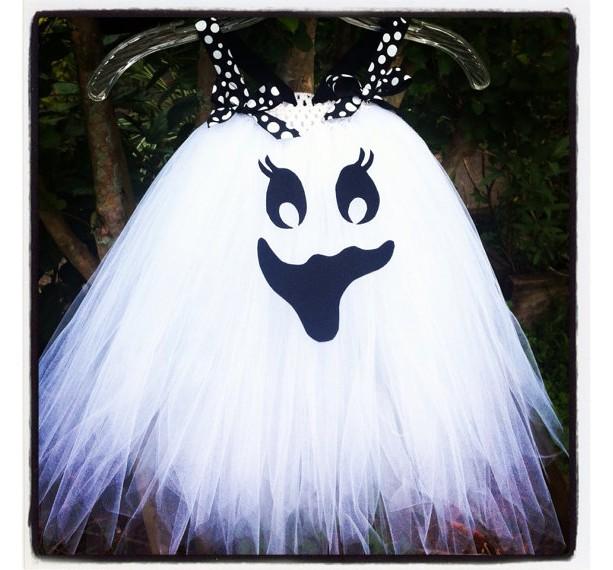 Newborn-24m Happy Ghost tutu dress