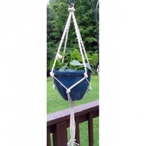 Braids and Knots 48 Inch Macrame Plant Hanger