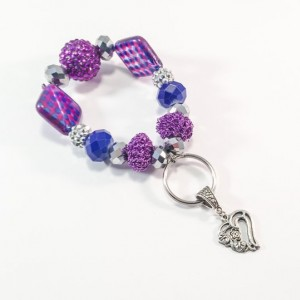 Keychain Bracelet with Heart Charm