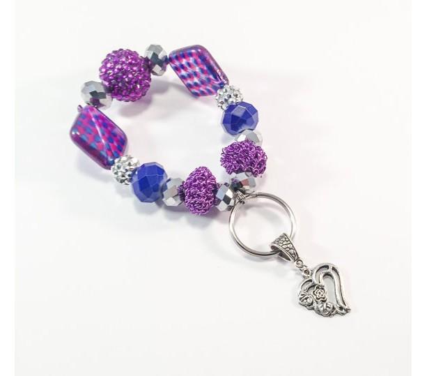 Keychain Bracelet with Heart Charm