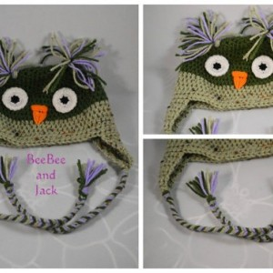 Crochet owl hat- Toddler Size