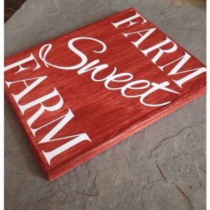 Farm Sweet Farm Painted Canvas Sign